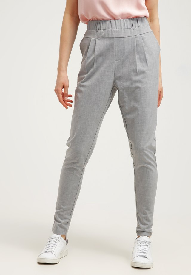 JILLIAN PANTS - Trousers - light grey melange