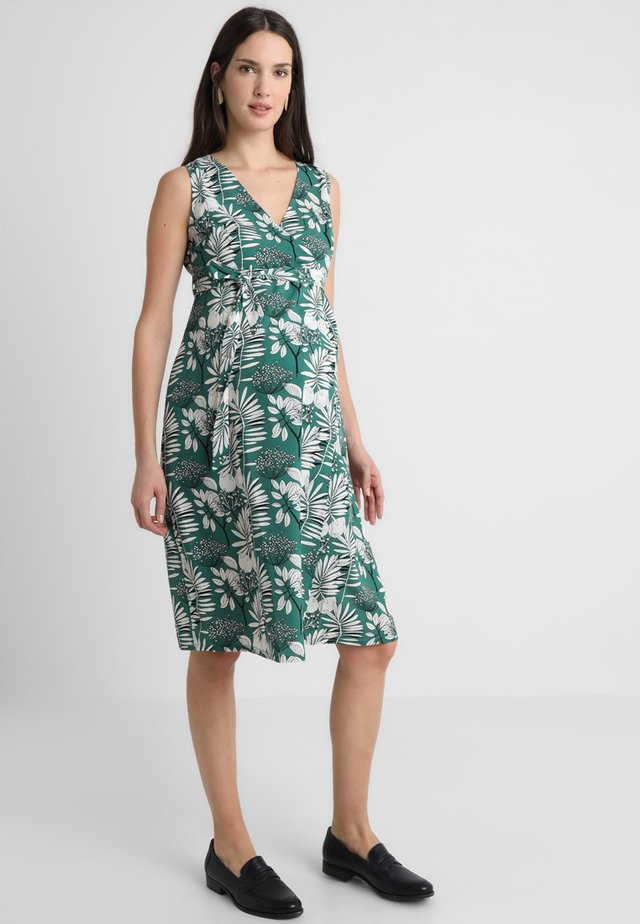 PALM WRAP DRESS - Robe d'été - green