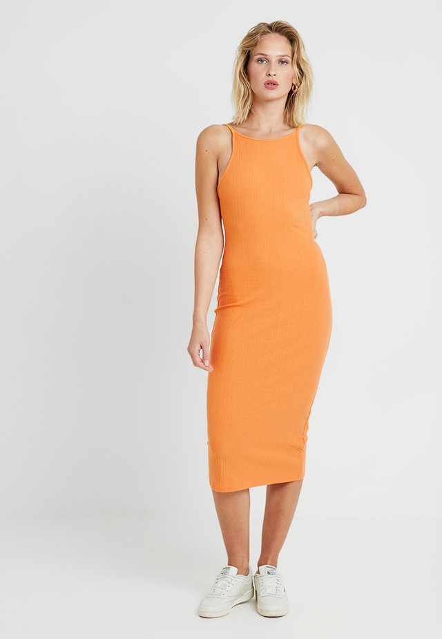 STRAPPY VARY - Shift dress - orange