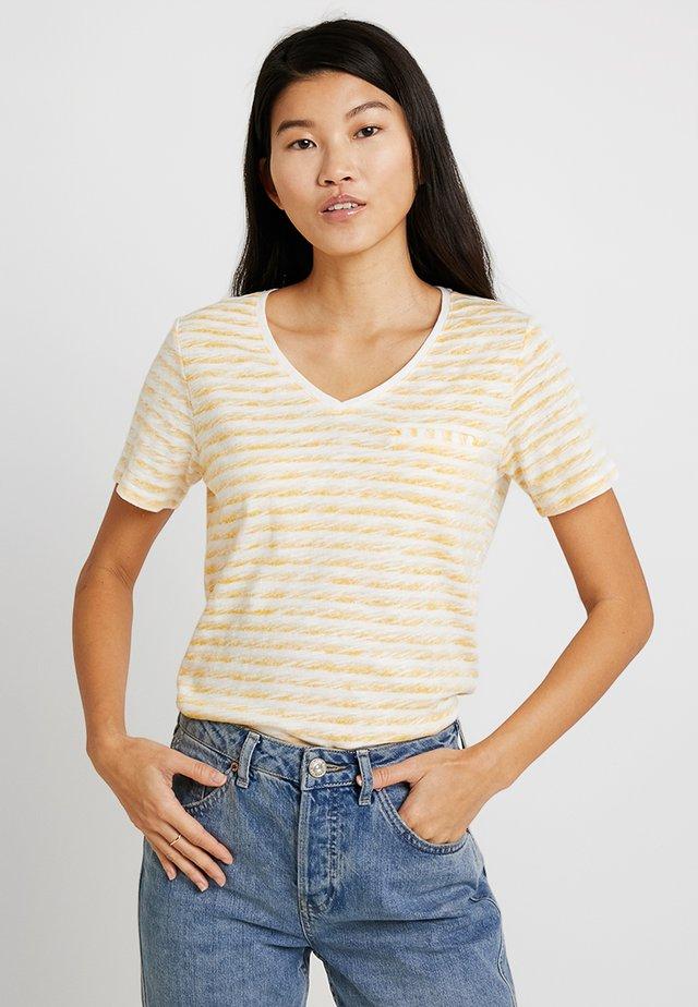 KURZARM - T-shirt imprimé - pure yellow