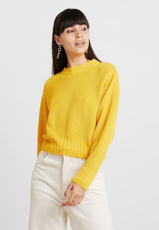 CROPPED JUMPER - Maglione - sun yellow