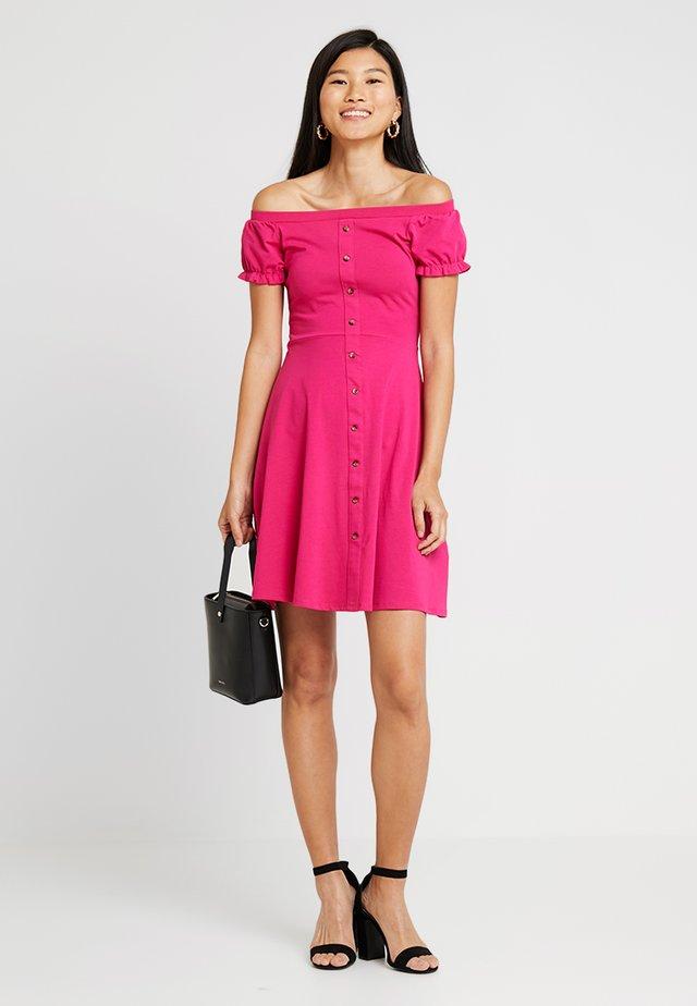 PLAIN  BUTTON THROUGH BARDOT - Skjortekjole - pink