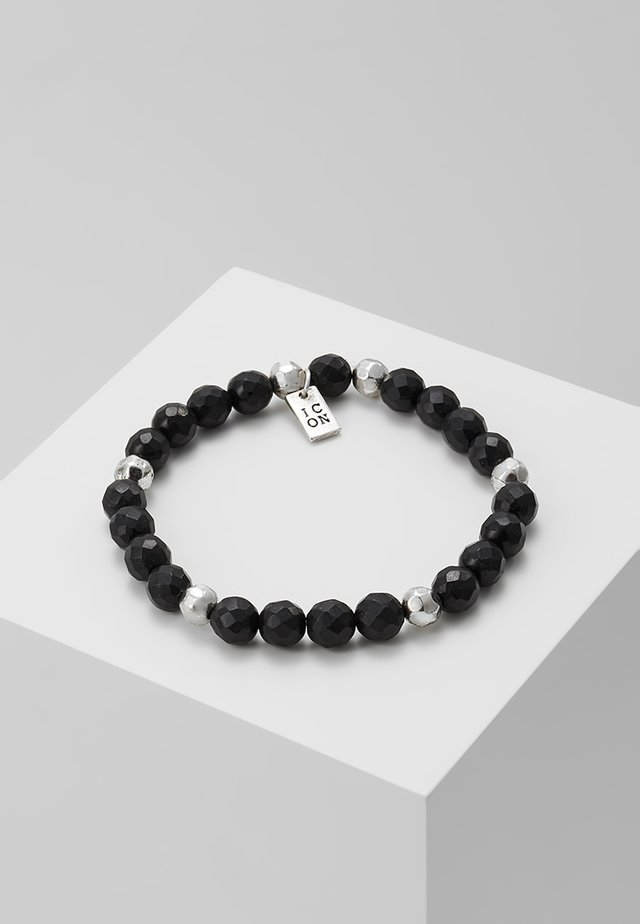 PINSTRIPE BEADED BRACELET - Armbånd - black/silver-coloured