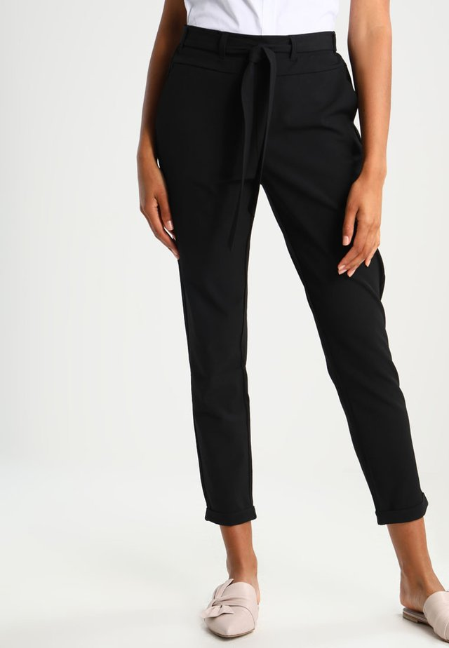JILLIAN BELT PANT - Kangashousut - black deep