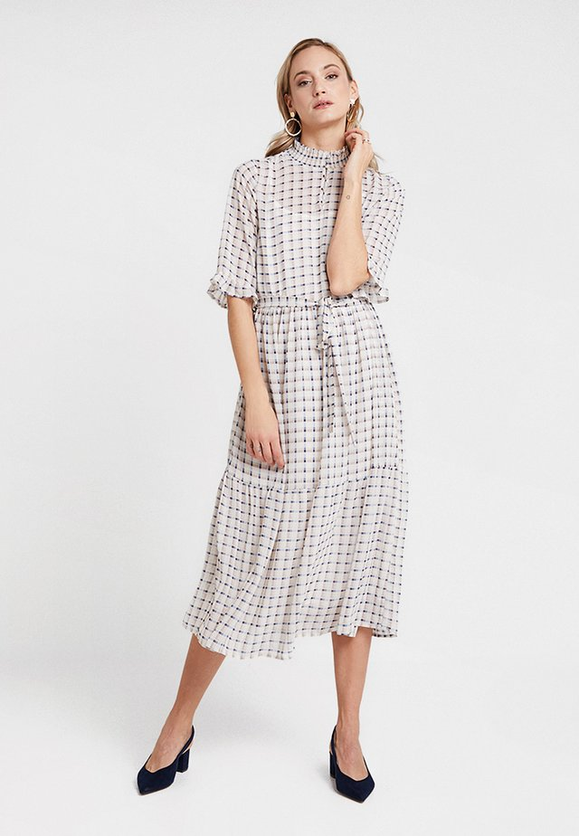 ROBERTA TIE BELT LONG DRESS - Day dress - chalk
