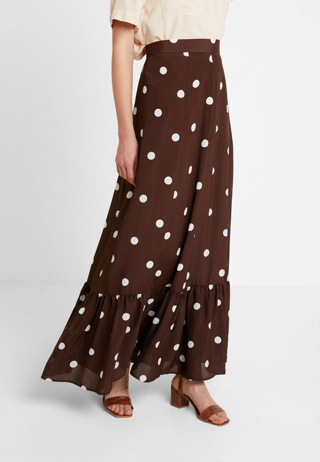 BOHEMIAN SKIRT - Jupe longue - dark chocolate