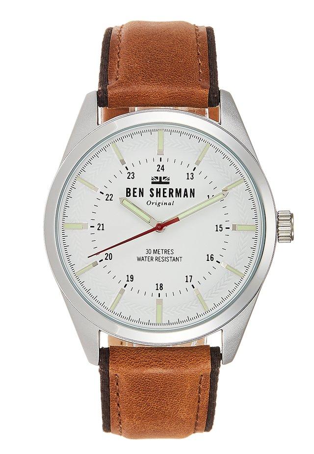 SPITALFIELDS OUTDOOR - Reloj - brown/silver-coloured