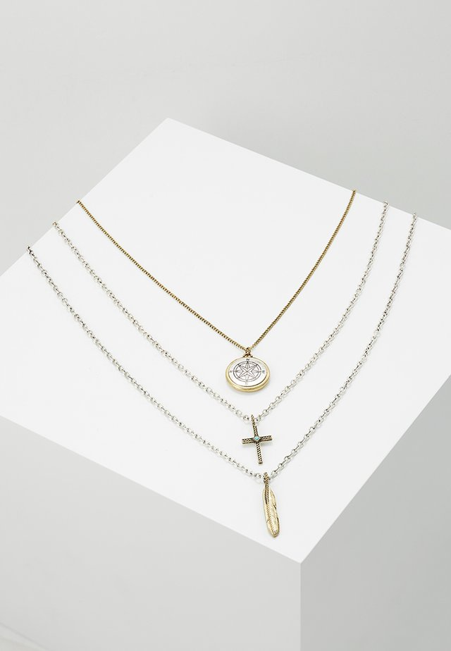 COMPASS MULTIROW NECKLACE - Halskette - multi-coloured