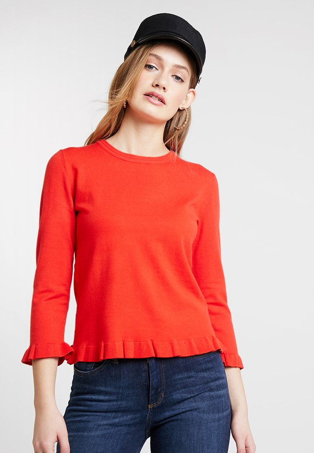 Strickpullover - fiery red