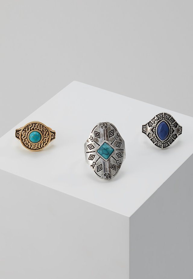 PREMIUM ETHNIC 3 PACK - Ringe - antique silver-coloured