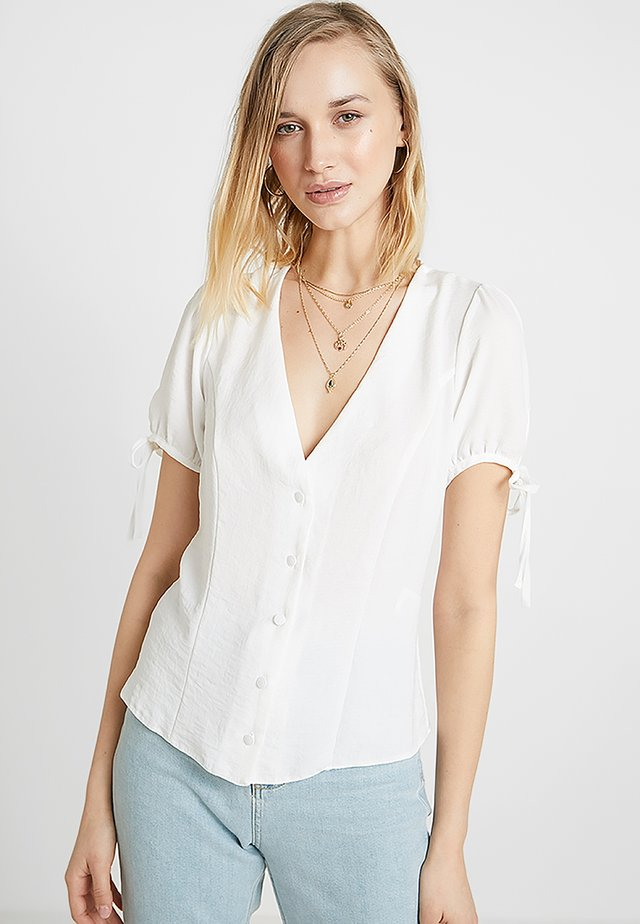 BOBBY TIE BUTTON BLOUSE - Camicetta - off-white