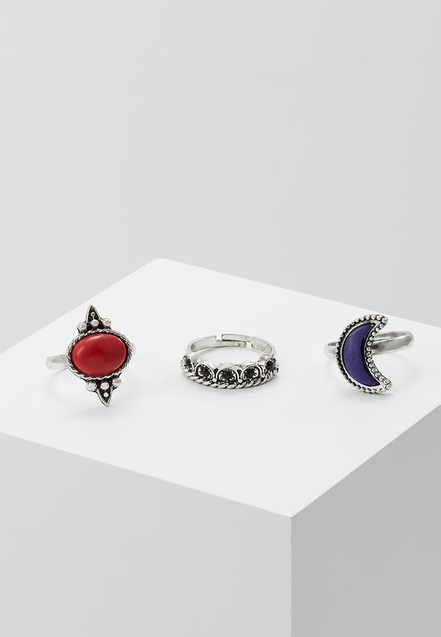MOON RING 3 PACK - Ring - silver-coloured