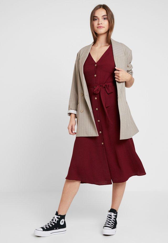 Skjortekjole - dark burgundy