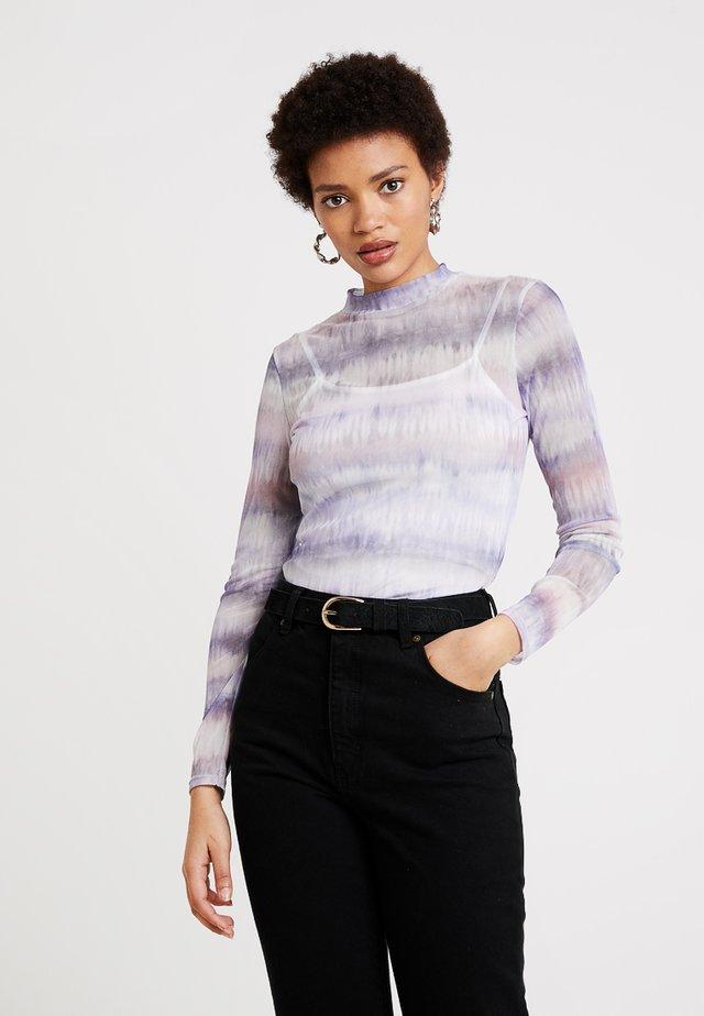 TIE DYE SCOOP - Long sleeved top - lilac