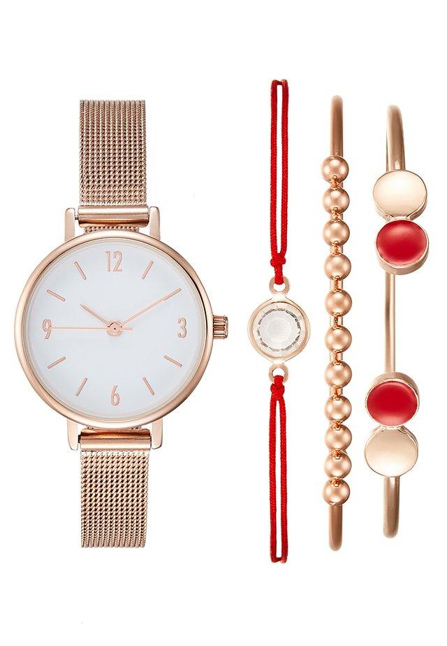 SET - Horloge - rosegold-coloured