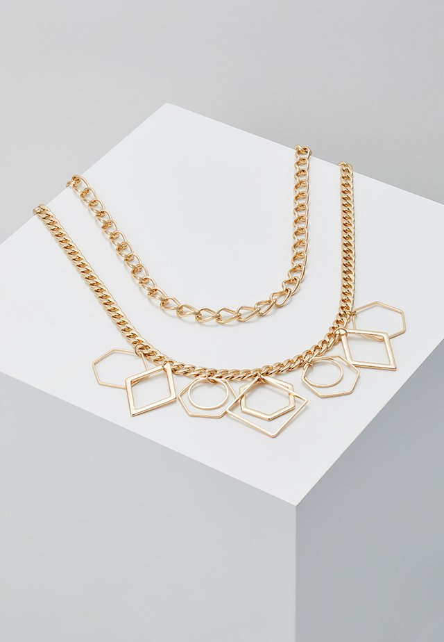 GEO SHAPE MULTIROW COLLAR - Ketting - gold-coloured