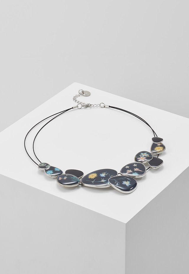ROMANTIC FLOWERS CHAPAS - Halsband - black/silver-coloured