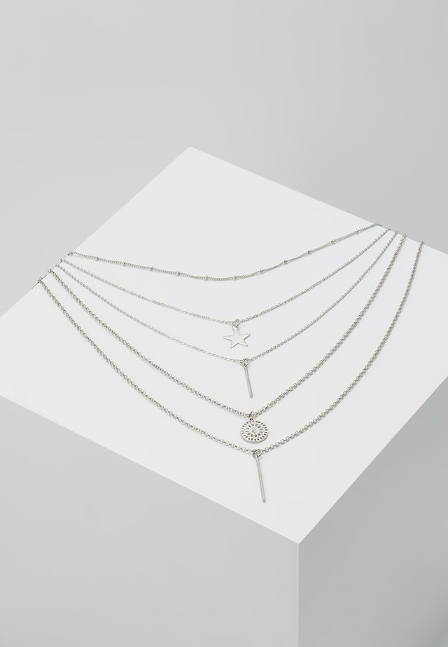 ONLLONNIE 5 CHAIN NECKLACE - Collana - silver-coloured