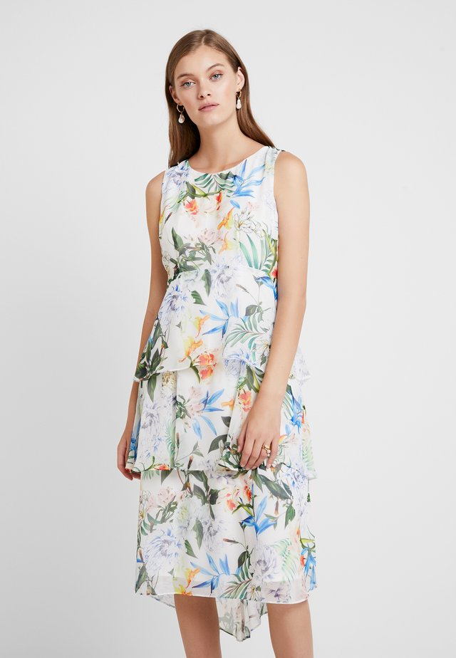 ORIENTAL POP TIERED DRESS - Vestido informal - ivory