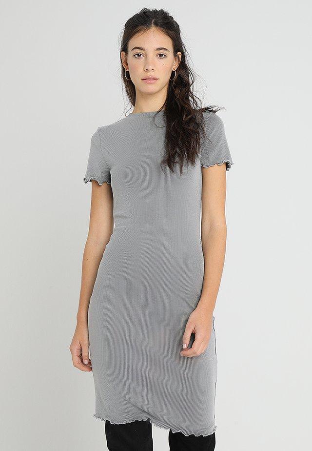 Jersey dress - mottled grey