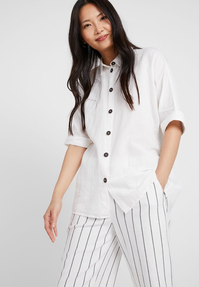 Button-down blouse - off white