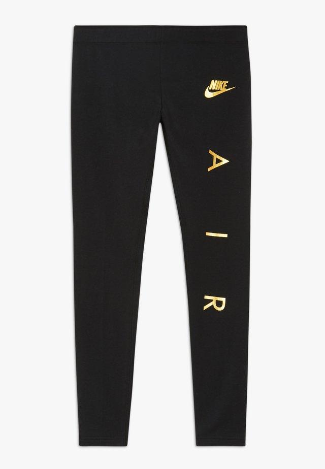 FAVORITES AIR - Leggings - Trousers - black/metallic gold