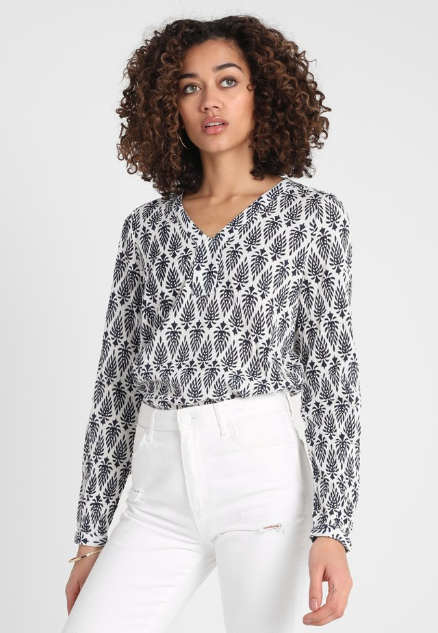 AMBER JAS BLOUSE - Pusero - dark blue/chalk