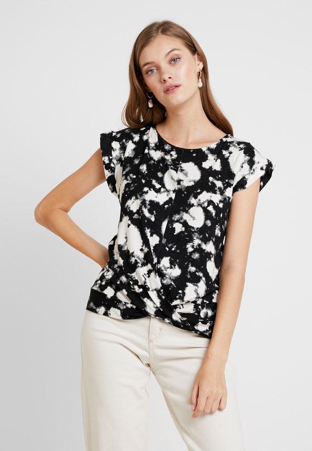 TIE DYE FRONT TEE - Print T-shirt - black