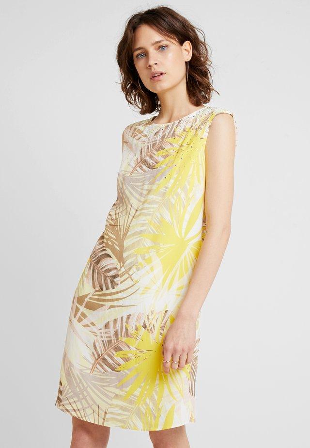 SOFT PALM HOTFIX SHIFT DRESS - Sukienka letnia - lemon