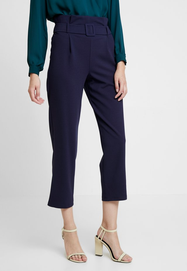 SELF BELT PAPERBAG TROUSER - Trousers - navy