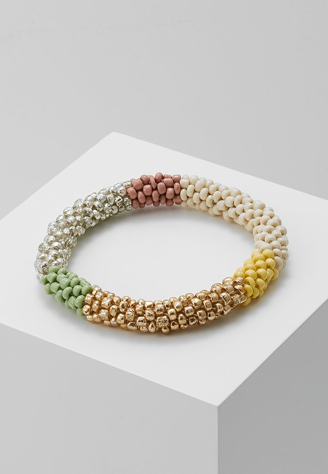 ONLLAYA  ROOLON BRACELET  - Bracelet - cloud dancer/yellow blush/ silver-coloured