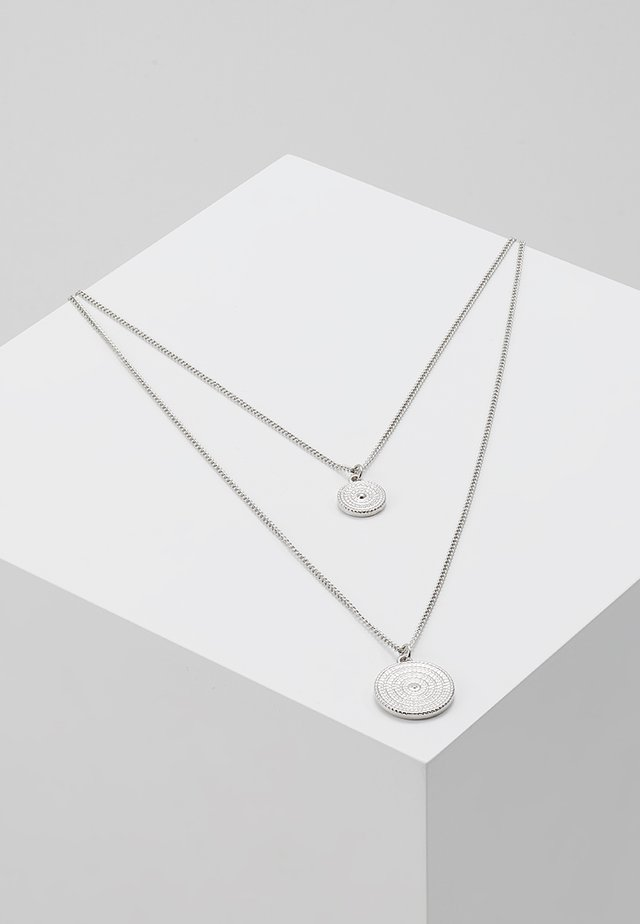 PCMACIE COMBI NECKLACE  - Necklace - silver-coloured