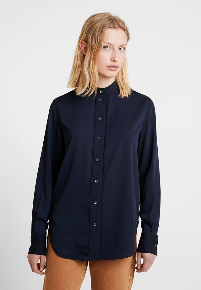 PLACKET DETAIL - Bluse - blue