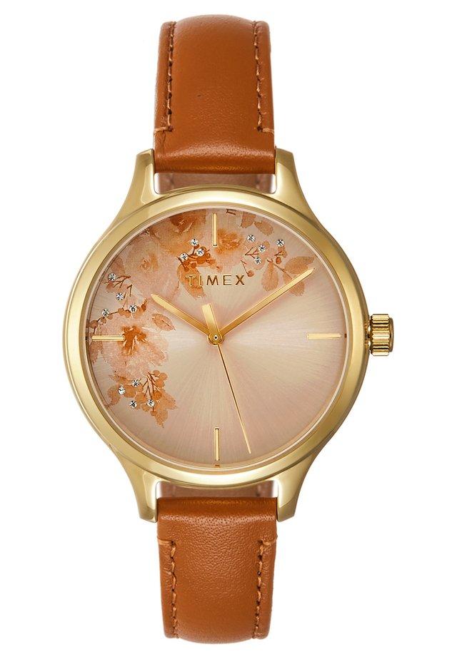 WOMEN'S TREND WITH SWAROVSKI STRAP DIAL - Watch - brown