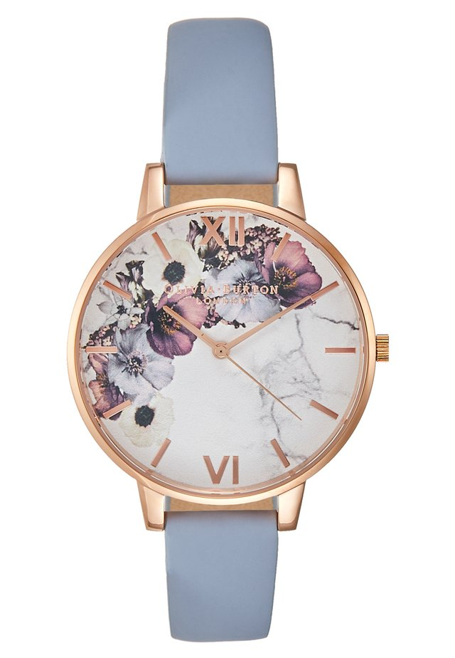 MARBLE  - Montre - roségold-coloured/light blue