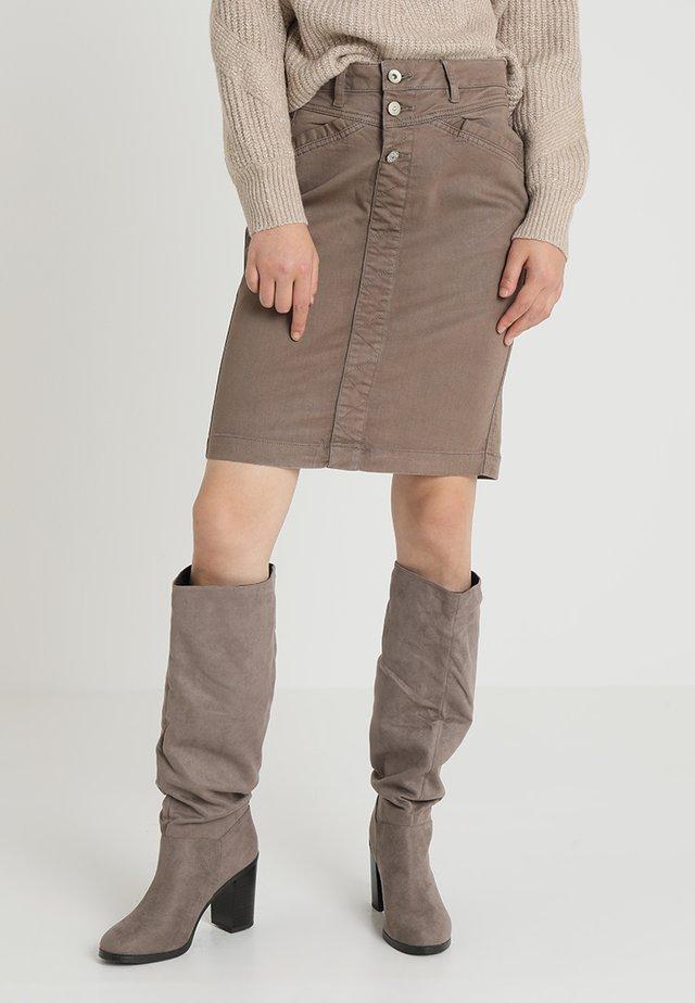 JULIA COATED SKIRT - Pencil skirt - earth