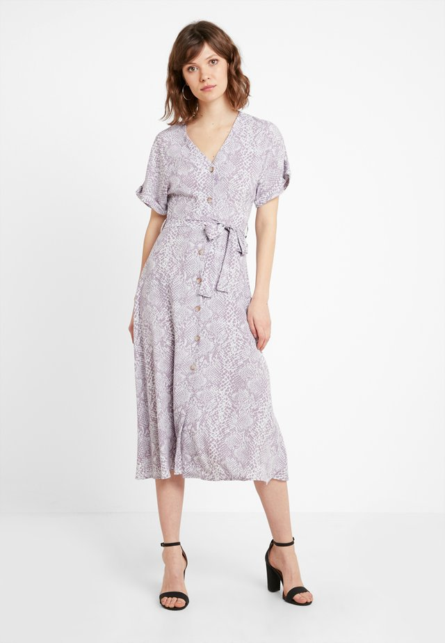 PRINT THRU MIDI DRESS - Shirt dress - grey