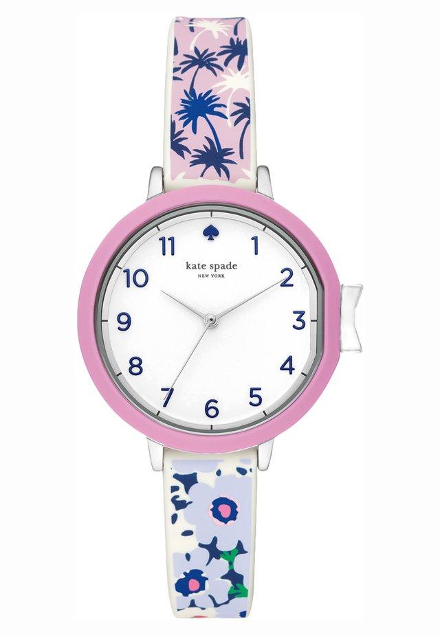 PARK ROW - Watch - blau/grün/rosa/weiss