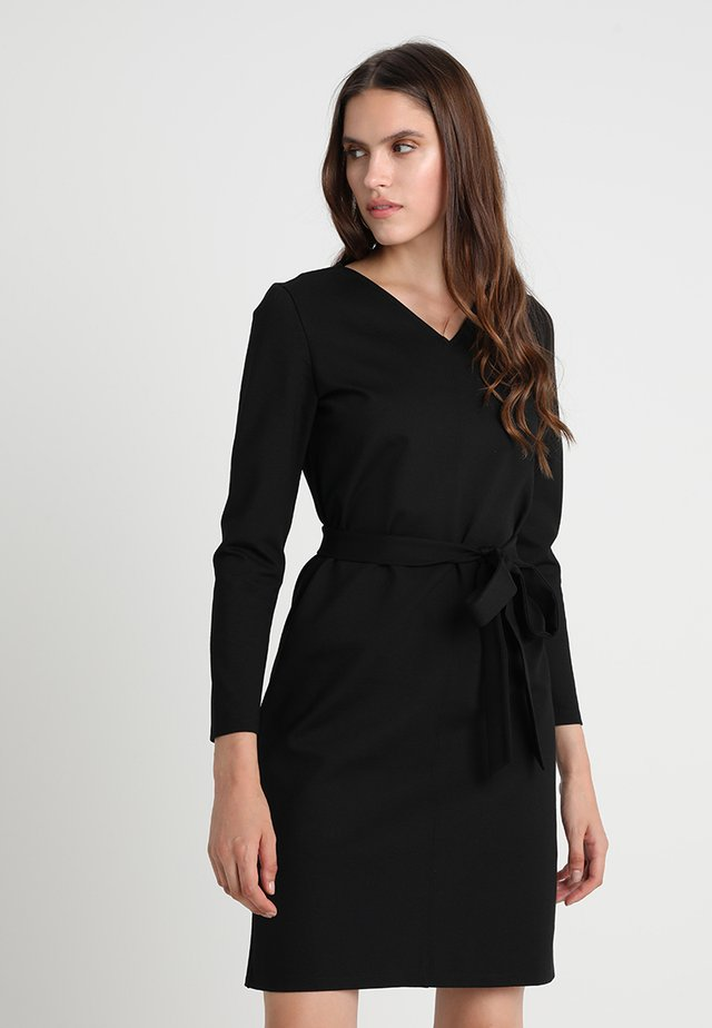 WORKWEAR SHIFT DRESS - Jersey dress - black