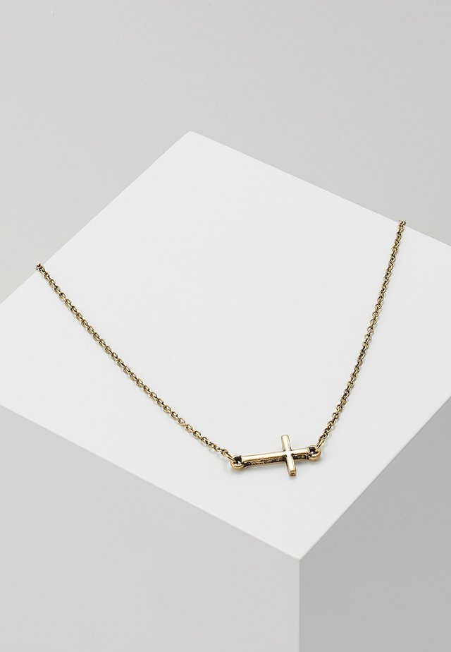 CRUCIFIX NECKLACE - Ketting - gold-coloured