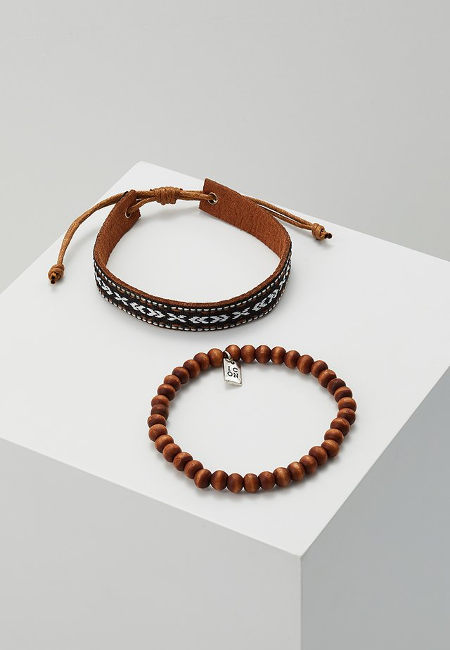 OAXACA BRACELET SET - Rannekoru - brown