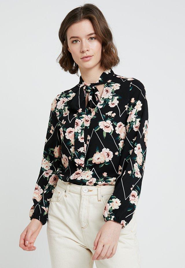 TIE NECK TOP - Blouse - floral