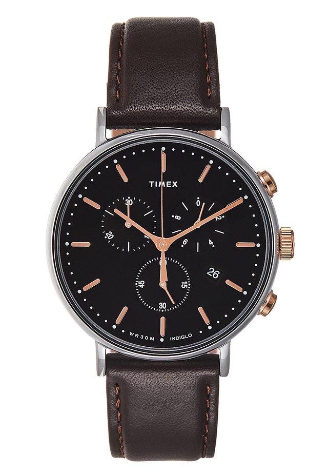FAIRFIELD SUB SECOND - Chronograph watch - dark brown/black