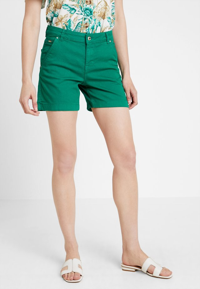 Denim shorts - greens
