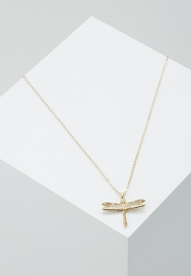 DELILAA DRAGONFLY MINI PENDANT - Collier - pale gold-coloured
