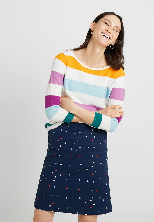 STRIPE JUMPER - Jumper - orange