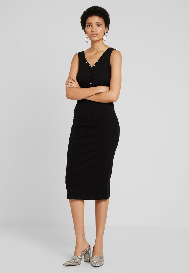 POPPER VARY  MIDI - Maxikleid - black