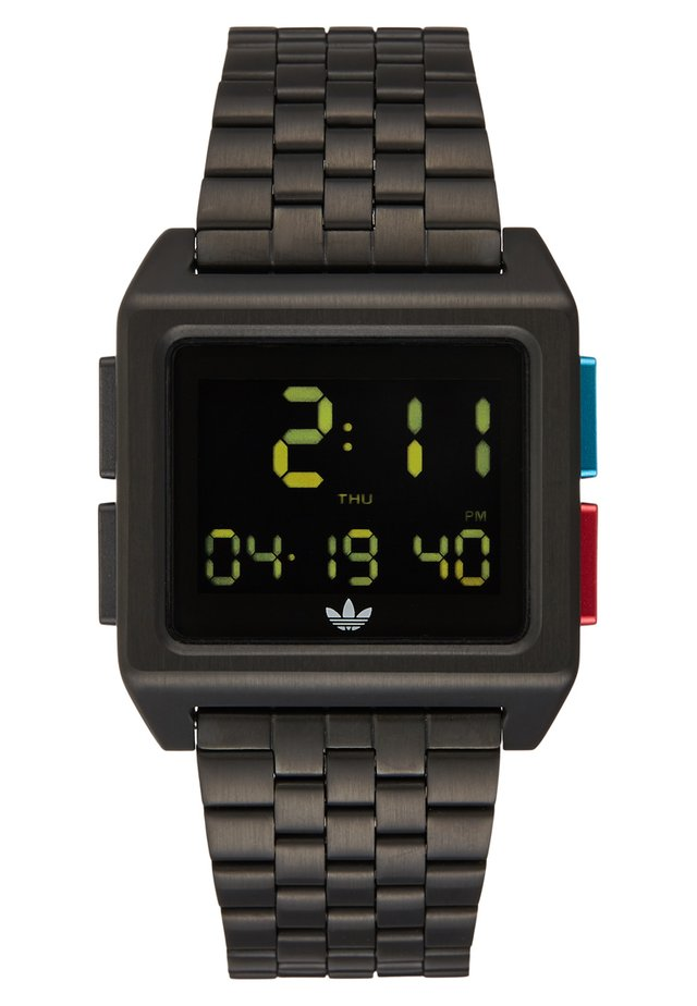 ARCHIVE M1 - Digital watch - all black/blue/red