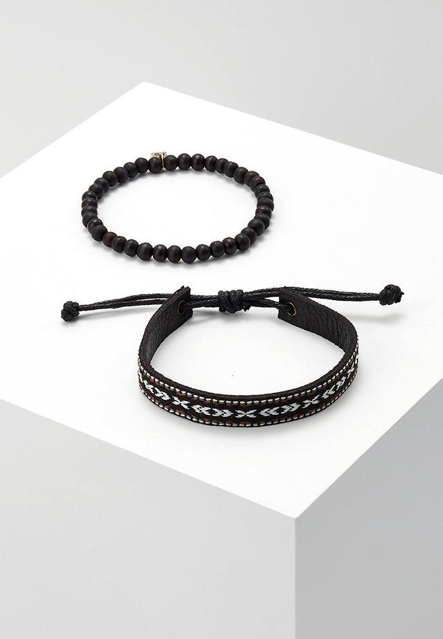 OAXACA BRACELET SET - Armbånd - black