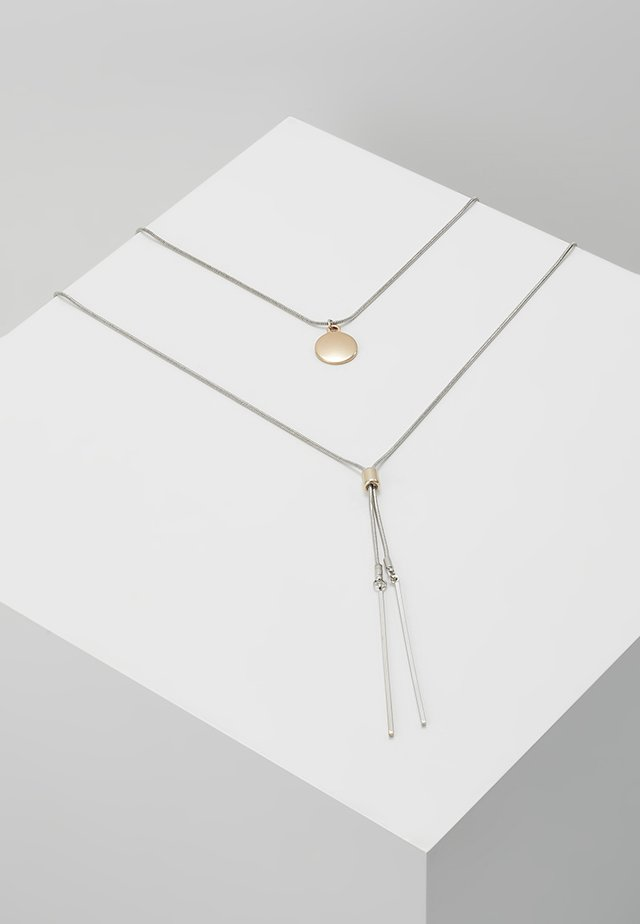 FINE 2ROW LARIAT - Collier - silver-coloured